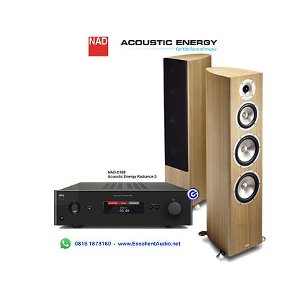 Paket NAD C388 Acoustic Energy Radiance 3 bluetooth DAC amplifier