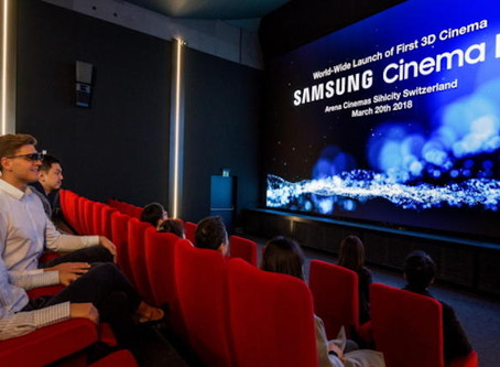 Samsung opens world's first 3D Cinema LED screen