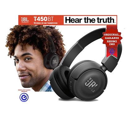 JBL T450BT wireless on ear headphone
