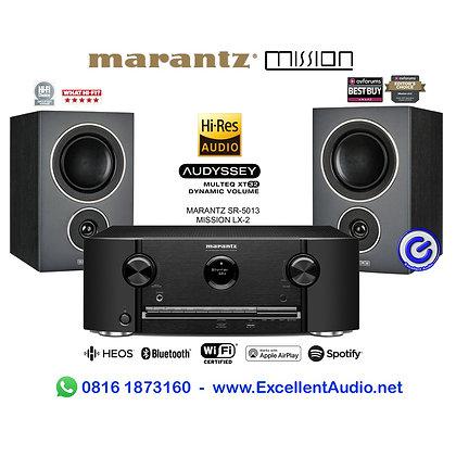 Paket Marantz SR5013 Mission LX2 AV receiver amplifier pasif bookshelf speaker