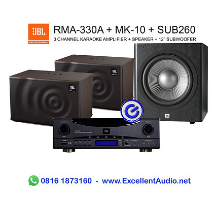 Paket karaoke JBL RMA330 RMA 330 MK10 MK 10 Sub260 sub 260 karaoke system