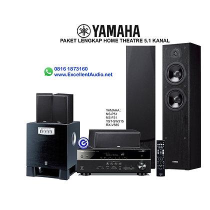 Paket Yamaha RXV 585 NSP51 NSF 51 YST SW315 home theatre 5.1 kanal