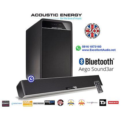 Acoustic Energy Aego Soundbar bluetooth compact soundbar wired subwoofer