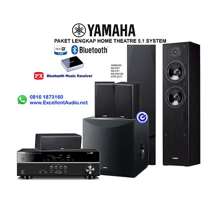 Paket bluetooth Yamaha HTR 2071 NS SW100 NS F51 NS P51 home theatre 5.1 system