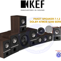 KEF Q300 paket 7.1.2 Dolby Atmos home theater speaker sln B&W Focal