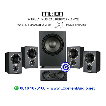 paket home theatre speaker system 5.1 Mission LX1