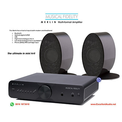 Musical Fidelity Merlin System stereo bluetooth DAC streamer amplifier