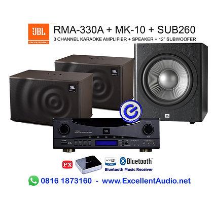 Paket Bluetooth JBL RMA330 RMA 330 MK10 MK 10 SUB260 SUB 260 karaoke system