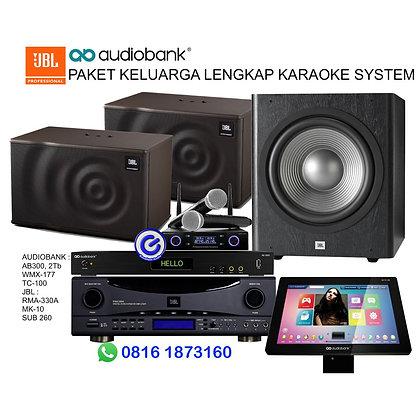 Paket karaoke lengkap JBL Sub260 RMA330 Mk10 Audiobank AB3000 TC100 WMK-177