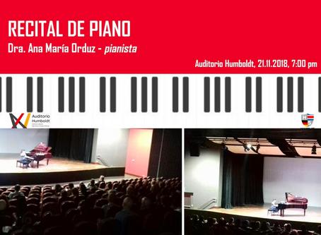 Recital de Piano - Dra. Ana María Orduz