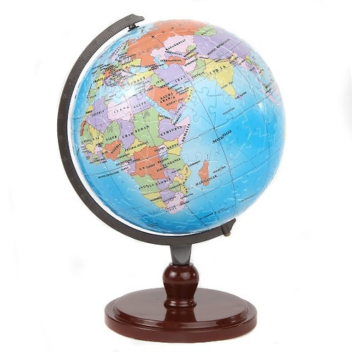 3D Kids Educational Interactive Earth Globe Puzzle - Rotating Stand & 480 Pieces