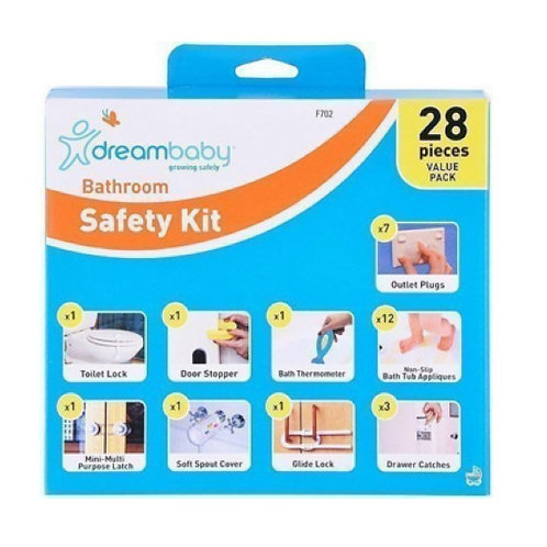 28pc Bathroom Safety Value Pack Door Stopper Thermometer Locks Catches Appliques