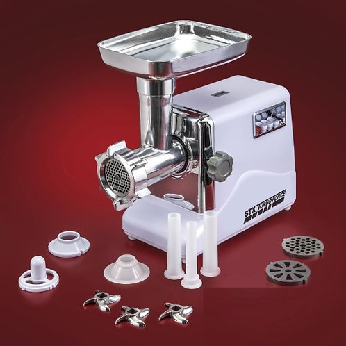 3spd Electric Grinder, 3 Blades 3 Plates Kubbe Attachment Sausage Stuffing Tubes