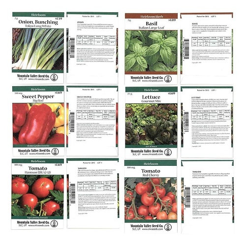 Heirloom Vegetable Garden Seed Collection Assortment 15 Non-GMO Easy Grow Select