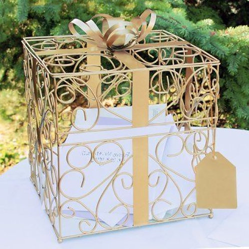 Limited Edition Reception Gift Cards Holder Box Gold Color Unique Way To Display