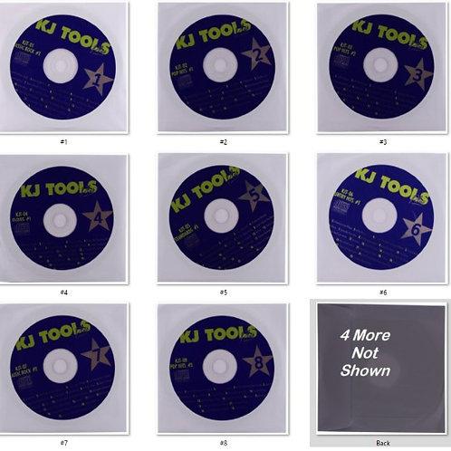 12 Disk Karaoke CD+G KJ TOOLS Set 243 Pop Songs Great Variety Pack Audio English