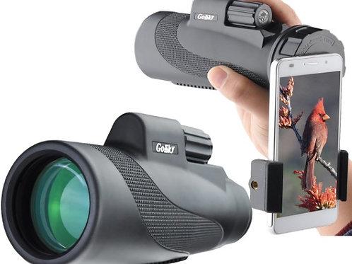12X50 High Power Prism Monocular & Quick Smartphone Holder Fog/ Waterproof Scope