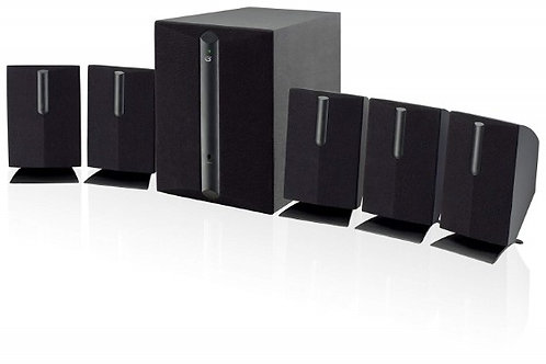 5.1 Channel Home Theater Speaker System, Black 6 Virtual Surround Sound Speakers