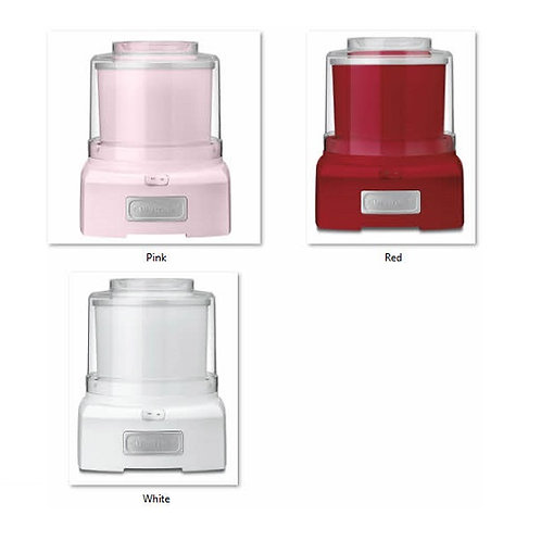 1-1/2 Quarts Frozen Yogurt & Ice Cream Maker White, Pink, or Red Fully Automatic