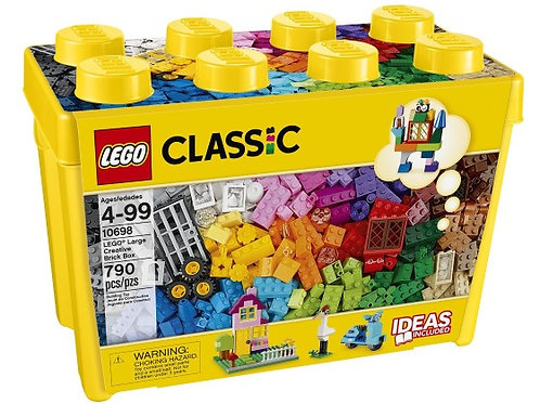 LEGO Classic Large Creative Brick Box, 790 Pieces Variety of Colors Inspirations