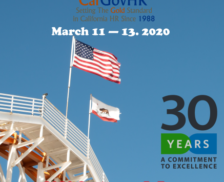 Registration Now Open - 2020 CalGovHR Conference & Expo - March 11 - 13, 2020 (Sonoma, CA)