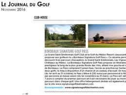 LE JOURNAL DU GOLF //