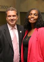 Mayor Mike Spano and Cheryl Lynn Brannan
