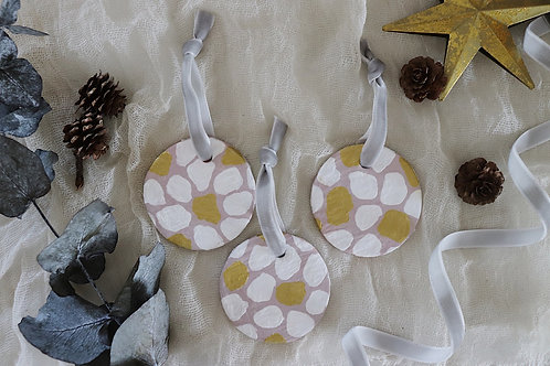 Pink White & Gold Dalmatian | Decoration Set