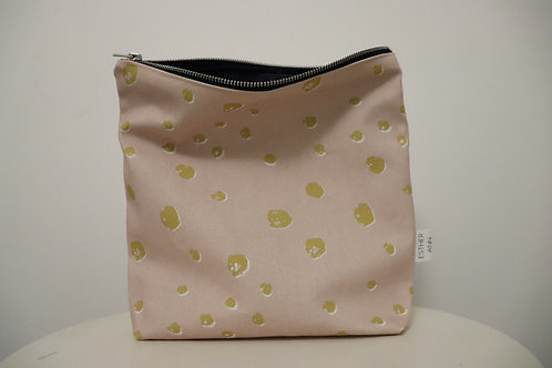 The Pink & Mustard Polka Pouch | Large