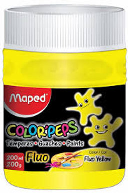 maped color peps fluo paint red,orange,yellow,green,blue and pink