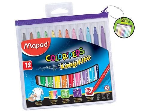 Maped Color Peps Long Life Marker 12pk