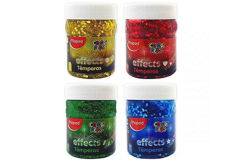 maped effects glitter paint  green, yellow, red and blue