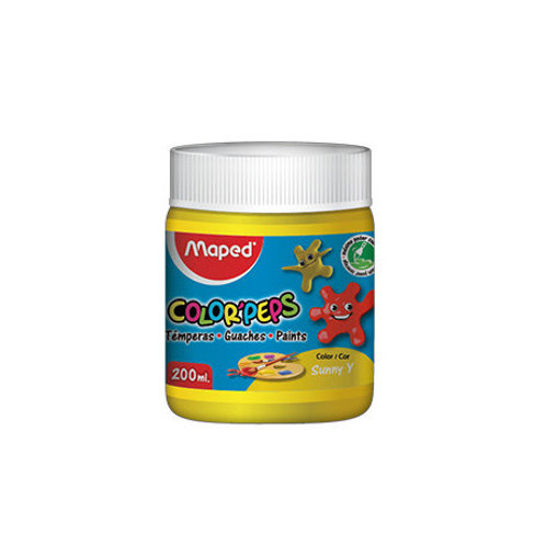 maped color peps paint black,red, yellow,blue, green