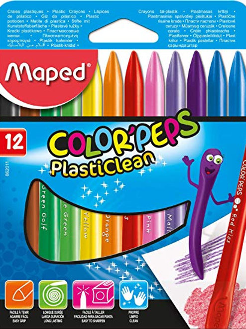 Maped Color Peps Plasticlean 12pk