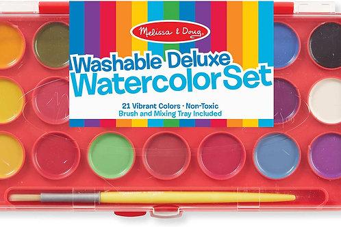 melissa and doug washable deluxe watercolor set