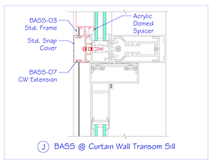 BASS at Curtain Wall Transom Sill