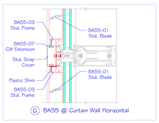 BASS at Curtain Wall Horizontal