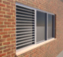exterior sun control device storefront