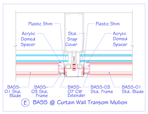 BASS at Curtain Wall Transom Mullion