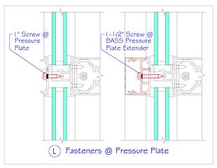 Fasteners at Pressure Plate