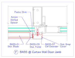 BASS at Curtain Wall Door Jamb