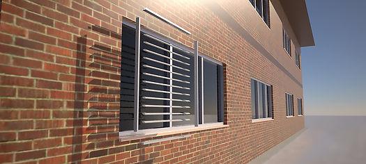 storefront exterior sunshades brise soleil architectural