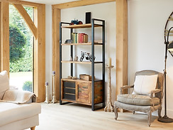 Industrial Chic Large Bookcase