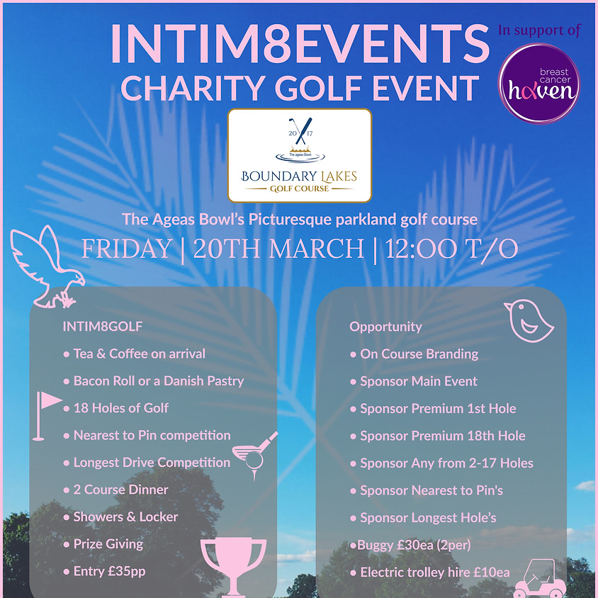 Intim8events Charity Golf at Boundary Lakes -Ageas Bowl