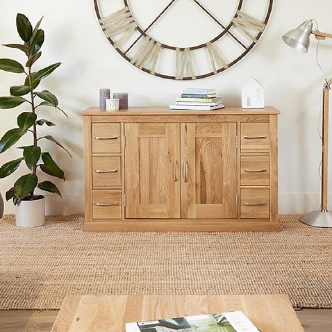 The six drawer solid oak sideboard offer