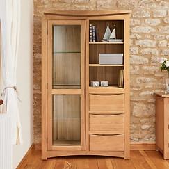 Contemporary Oak Display Cabinet