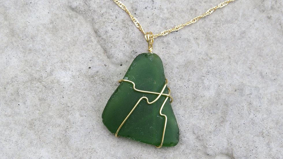 Sea Glass Necklace K