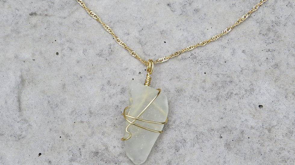Sea Glass Necklace Y