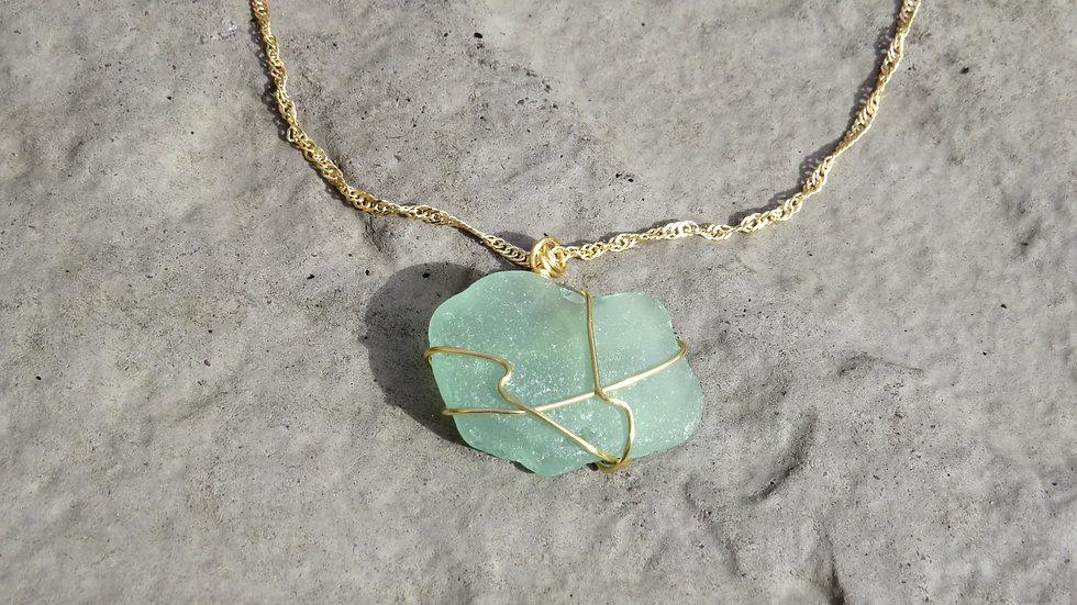 Sea Glass Necklace Q