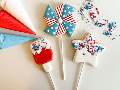KIDS Red, White & Blue Cookie Pop Class